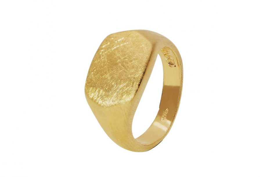 anel-hexagon-dourado-em-prata