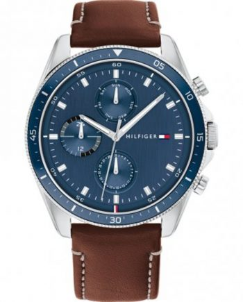 relogio-parker-blue-brown-leather-mens-chronograph